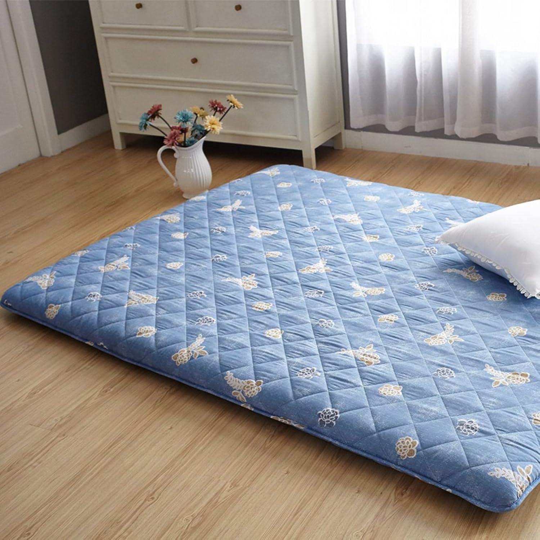 Tatami Mattress Folding Mattress Sponge Soft Cushion Thickening Plate Mattress Single Double mat-A 90x200cm(35x79inch)