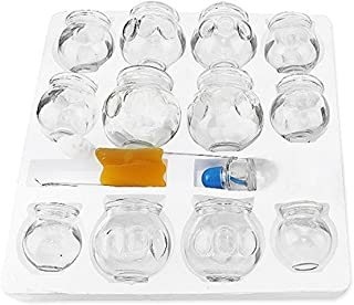 12 pcs Thick Glass Cupping Set with BOUNS KITS Professionals (2 Cups #5 ~2.87