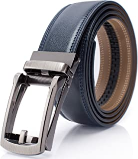 Holeless Leather Ratchet Belts for Men 45