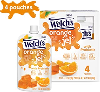 Welch's Orange Jel with Probiotics, 3.2 Ounce Pouches, 4 Pack