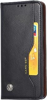 高級フリップレザーウォレット電話ケースフルボディ保護カバー、カードスロット付き、Xiaomi POCO X3 NFC対応 (ブラック)
