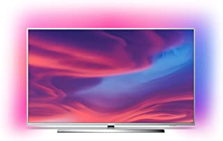 Philips Ambilight 65PUS7354 - Televisor Smart TV 4K UHD, 65 pulgadas, HDR10+, Android TV, Google Assistant y compatible Alexa, Dolby Vision/Atmos, peana central aluminio giratoria, color gris