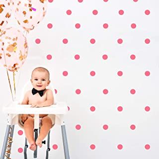 Outus Wall Decal Dots (200 Decals) Posh Dots Easy Peel and Stick - Removable Metallic Vinyl Polka Dot Decor, Round Circle ...