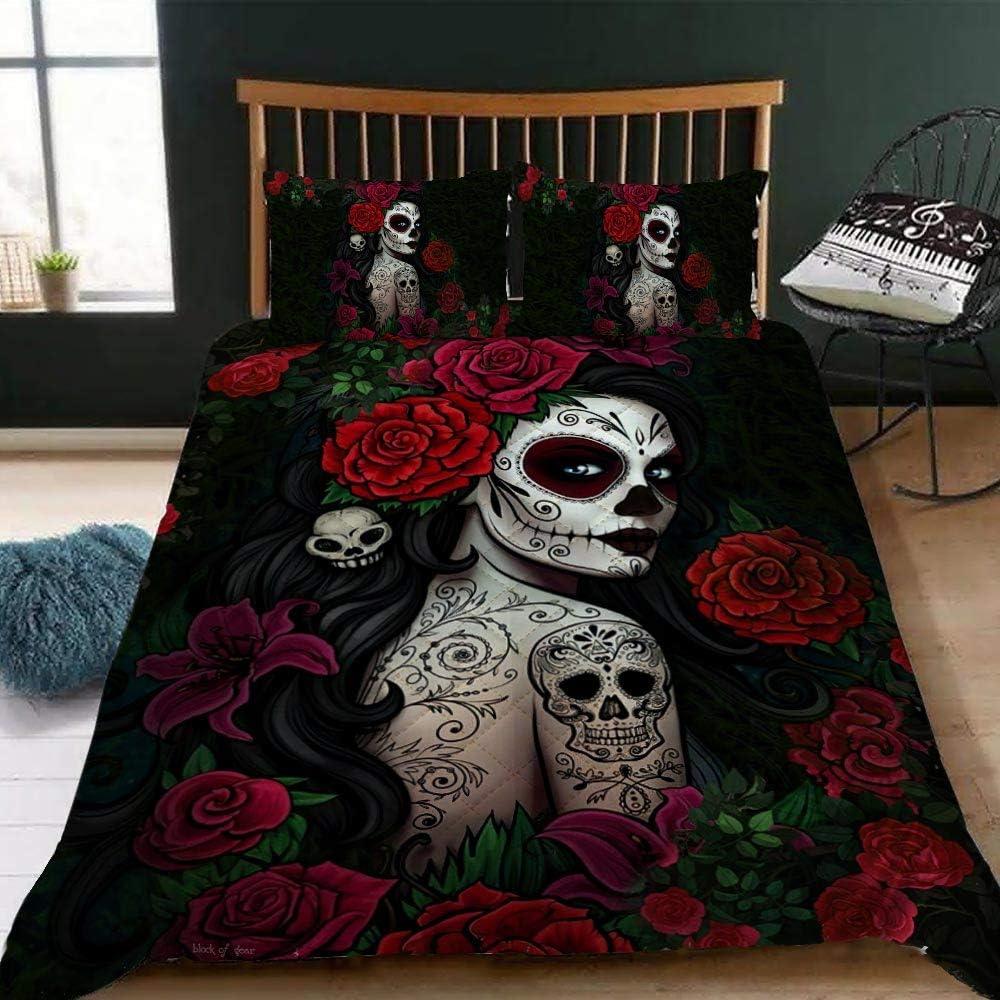 GEEMBI Quilt Bedding Popular products Set-Sugar Skull Bed Max 73% OFF QNK551QS Girl Set