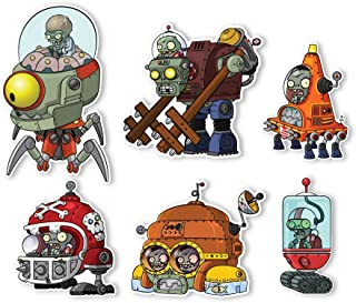 Plants vs. Zombies 2 Wall Decals: Special Far Future Zombie Set II (Six Zombies 5 to 6 inches Longest Side)