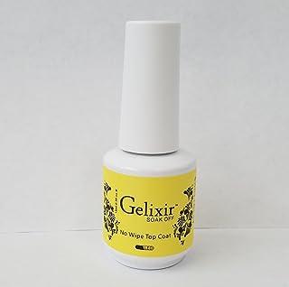 GELIXIR - Soak Off Gel No-wipe Top Coat - .5 Oz / 15 mL