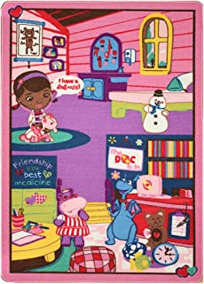 Disney Junior Girls Toy Rug Carnival Doc McStuffins Toys Play Mat Bedding Game Rugs w/ Doctor's Play Set, 32