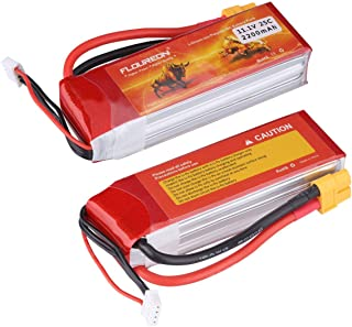 Floureon 3S Lipo Battery 25C 11.1V 2200mAh Li-Polymer Lipo RC Battery Pack with XT60 Plug Connector for RC Airplane RC Helicopter RC Car RC Truck RC Boat Quadcopter