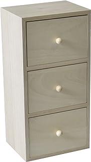 Artemio 1mueble madera 3cajones madera natural 13x 10x 26cm