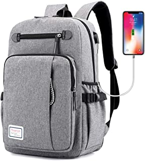 Laptop Backpack with USB Charging Port,Travel Backpack College School Bookbag