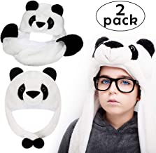 2 Pieces Plush Animal Hats Cute Winter Faux Fur Hat Scarf Animal Fluffy Hats, 2 Styles