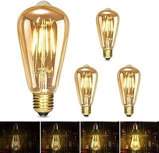 Albrillo Ampoule LED Edison E27, Dimmable Lampe Edison Vintage 6W 600Lm, Equivalent 60W, 2500K Blanc Chaud Rétro Filament ...