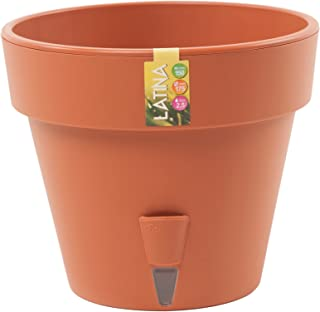 Santino Self Watering Planter Latina 9.2 Inch Terracotta Flower Pot with Bottom Watering and Water Level Indicator for Indoor/Outdoor use for All Plants, Flowers, Herbs