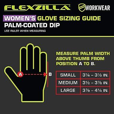 Flexzilla GC221M Foam Latex Dip, ZillaGreen, M Women's Garden Glove, Medium