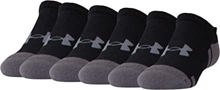 Under Armour Youth Resistor 3.0 No Show Socks, 6 Pairs