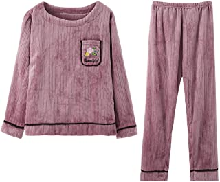 GOSO Pijama para niñas 8 9 10 11 12 13 14 años de Invierno cálido Pijama para niñas Adolescentes Tops y Pantalones Largos ...