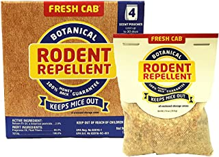 Fresh Cab Botanical Rodent Repellent - Environmentally Friendly, Keeps Mice Out, 4 Scent Pouches