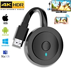 $29 » mpio Wireless HDMI Display Dongle Adapter, 4K Ultra HD WiFi Streaming Video Receiver for iPhone/iPad/iOS/Android/PC/Tablet/Windows/Mac OS to HDTV/Monitor/Projector, Support Miracast, DLNA, Airplay