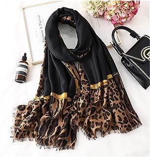 scarf Women Winter Scarf Print Hijab Scarves Lady Shawls Wraps Cotton Bandana (Color : 3)