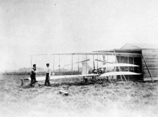 Laminated 23x17 Poster: Wright Brothers Plane