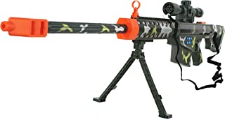 Battery Operated Toy Sniper Riffle w/ Sounds, Lights, & Accessories