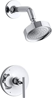 KOHLER TS14422-4-CP Purist(R) Rite-Temp(R) shower valve trim with lever handle and 2.5 gpm showerhead