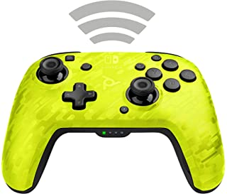 PDP Faceoff Wireless Deluxe Controller Switch Yellow Camo (Nintendo Switch)
