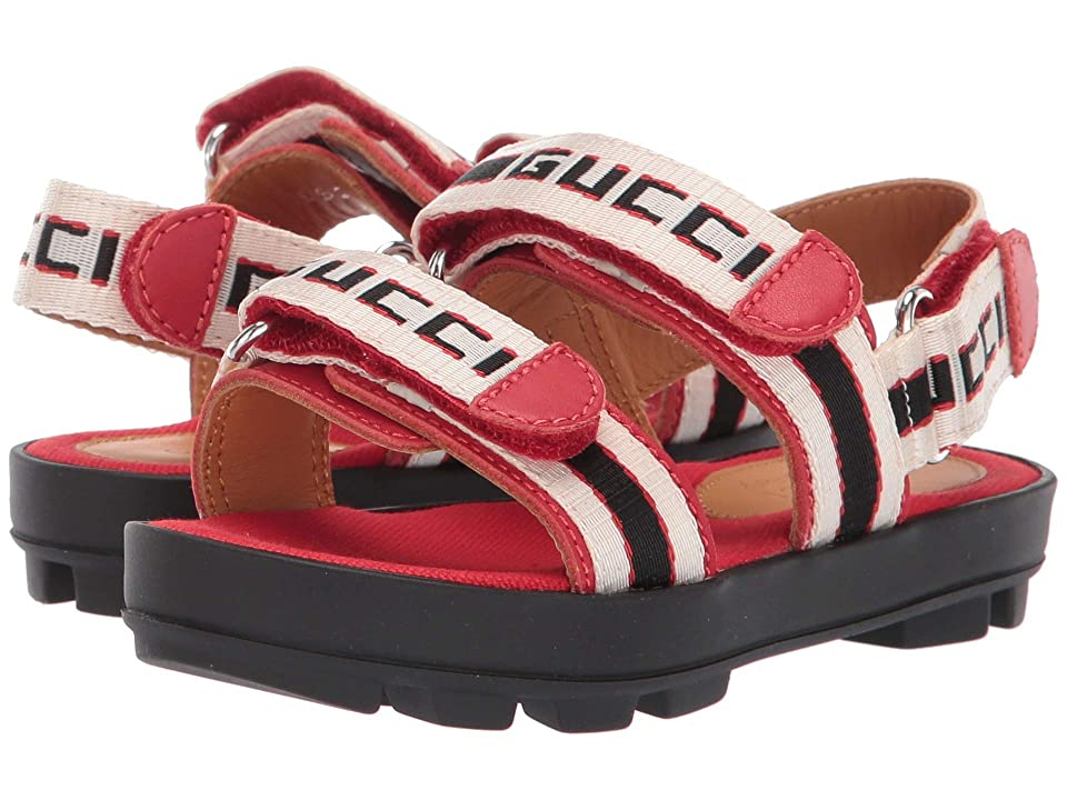 Gucci Kids Strappy Sandals (Toddler) (Sand) Girls Shoes