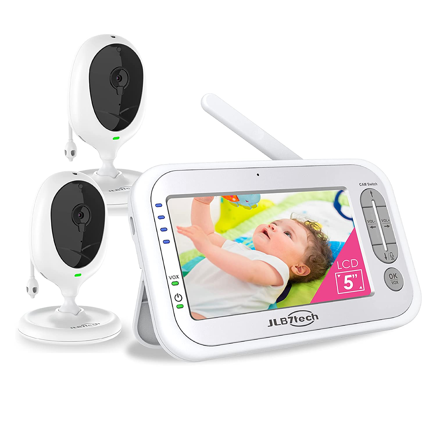 Baby Monitor with 2 Digital Cameras by LBtech
