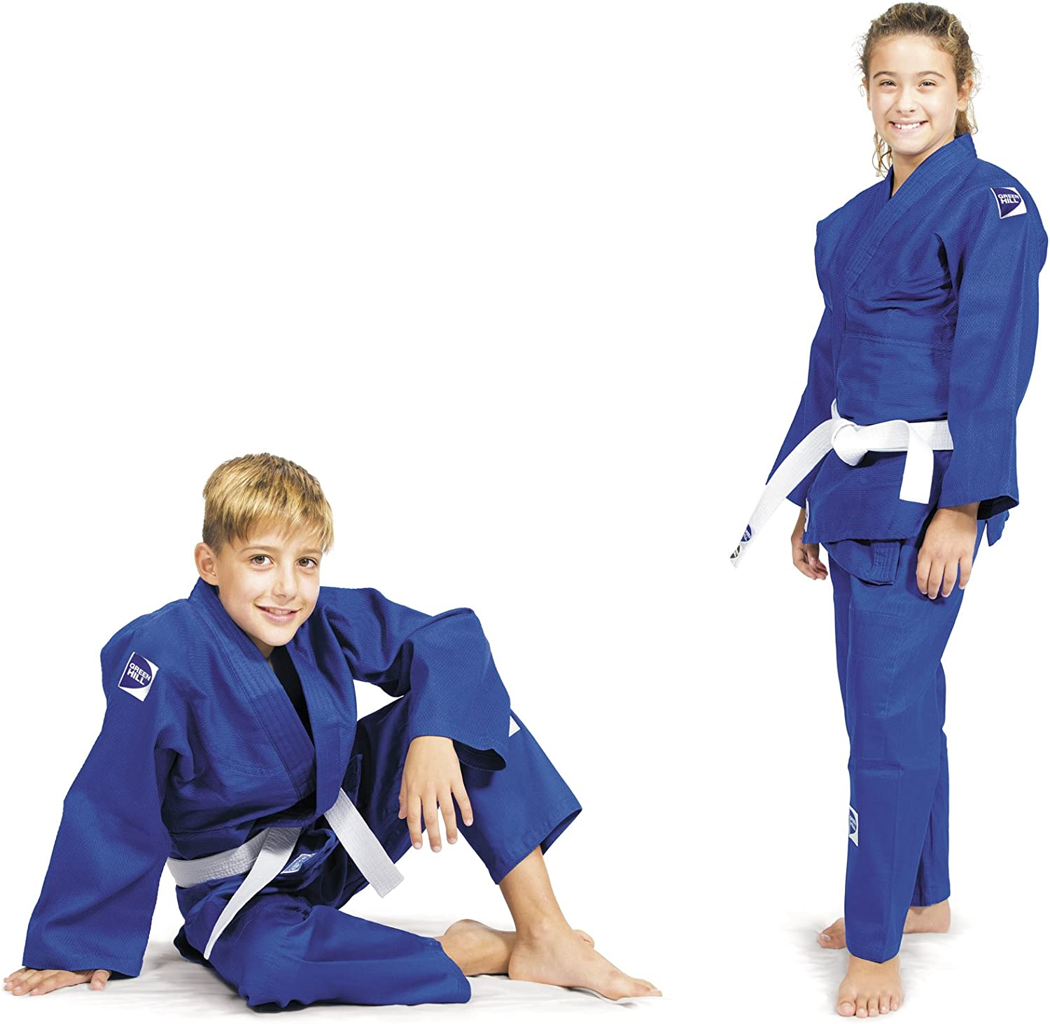 GREEN HILL Judo Suit Junior Gi Suit Martial Arts Suit Kids Best of BJJ Kimono Ju-Jitsu Aikido Karate Suit Martial Arts Uniform Martial Arts Costume for Training and Competition.