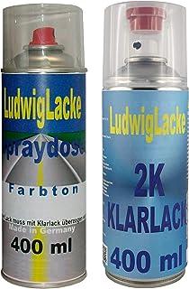 Ludwig Lacke LY9B Brillantschwarz für Audi Premium Spray Set Autolack & 2K Klarlack je 400ml