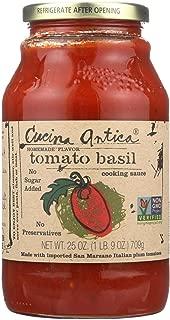 Cucina Antica Tomato Basil Sauce, 25 Ounce - 12 per case.