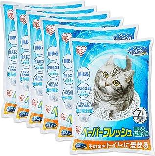 アイリスオーヤマ 猫砂 ペーパーフレッシュ トイレに流せる 固まる PFC-7L (紙製) 7L×6袋 (ケース販売)