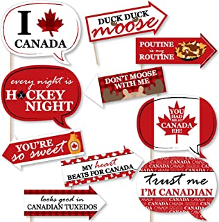 Funny Canada Day - Canadian Party Photo Booth Props Kit - 10 Piece