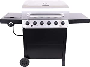 Char-Broil 463274419 Performance 6-Burner Cart Style Gas Grill, Stainless/Black