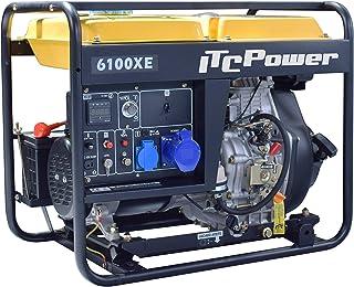 ITC Power NT-6100XE - Generador Diésel, color amarillo y negro