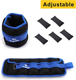 Fragraim Adjustable Ankle Weights 1-5/10 LBS Pair with Removable Weight for Jogging, Gymnastics, Aerobics, Physical Therapy|(0.5-2.5lbs)/(1-5 lbs) Each Pack, 2 Pack