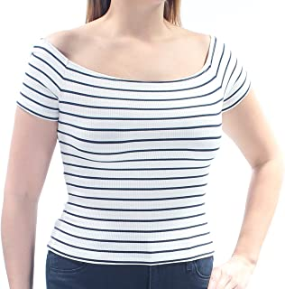 Denim & Supply Womens Striped Ribbed Casual Top
