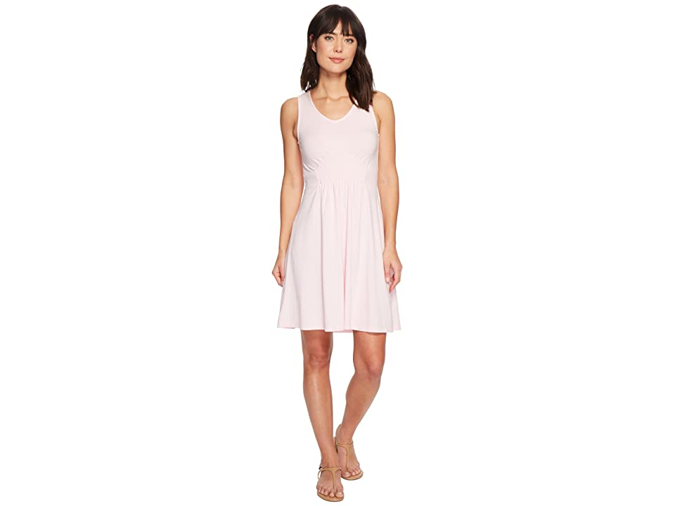 Mod-o-doc Cotton Modal Spandex Jersey Smocked Front Tank Dress (Pink Mist) Women