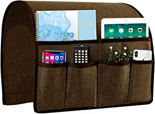 Best Joywell Sofa Armrest Organizer, Couch Arm Chair Caddy with 6 Pockets for Magazine, Books, TV Remote Control, Cell Phone, iPad (Chocolate) Review