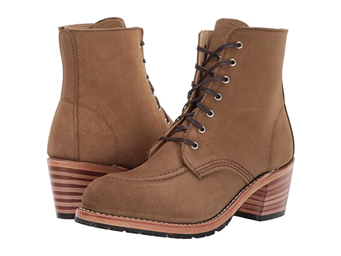 Vintage Boots- Winter Rain and Snow Boots History Red Wing Heritage Clara Olive Mohave Womens Lace-up Boots $233.83 AT vintagedancer.com