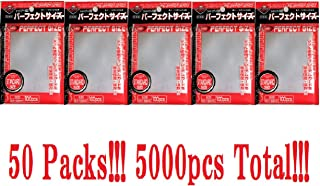 KMC 100 Card Barrier Perfect Size (50 Packs/Total 5000)