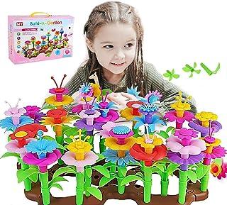 Flower Garden Building Toys, 104 PCS STEM Build a Bouquet Floral Arrangement Playset for Toddlers Kids Age 3, 4, 5, 6 Year...