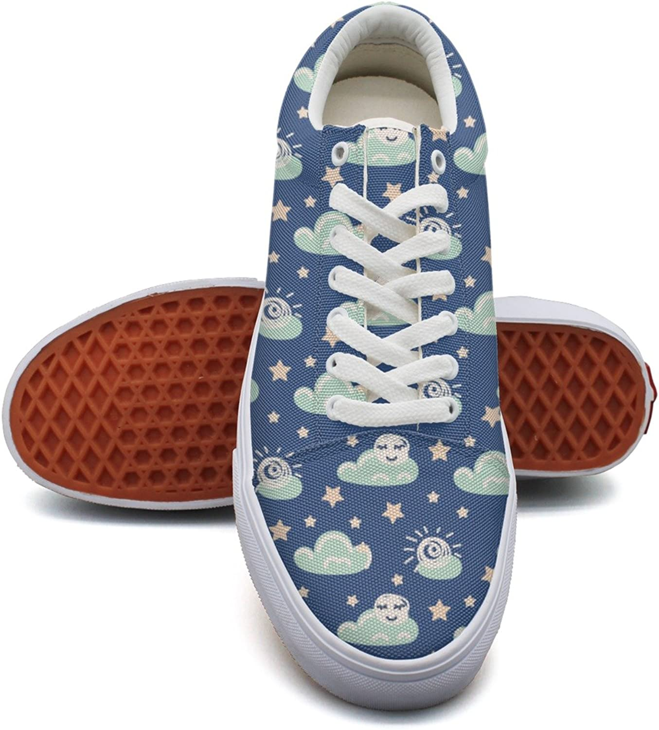 Feenfling is The Sun A Star Womens Casual Canvas shoes Low Top Vintage Sneakers for Women's