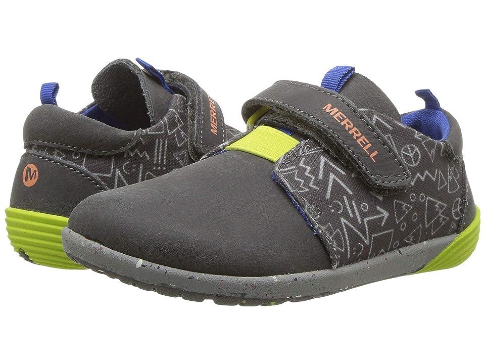 Merrell Kids Bare Steps Sneaker (Toddler) (Grey) Boys Shoes