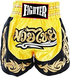Fighter Muay Thai,MMA,Kick Boxing Shorts Clothing Training Premium Quality Authentic from Thailand