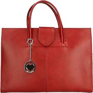 Chicca Borse Bag Borsa a Mano Portadocumenti in Pelle Made in Italy 40x30x10 cm