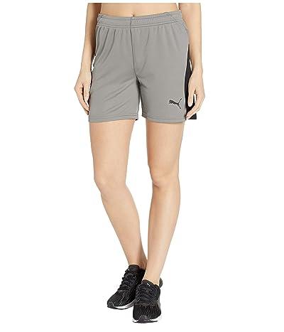 PUMA Liga Shorts (Steel Gray/Puma Black) Women