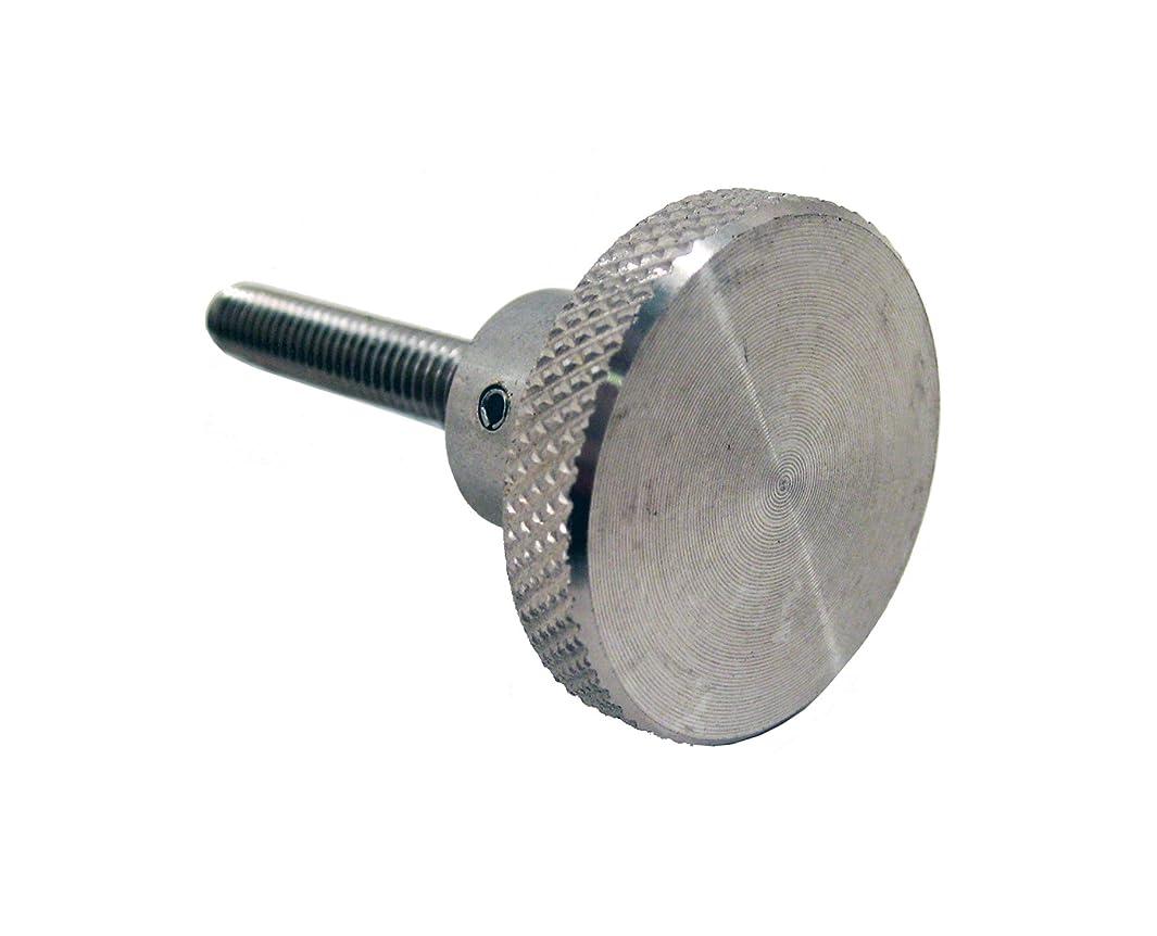 JW Winco Stainless Steel 303 Round Knob, Knurled, Threaded Stud, 1/4