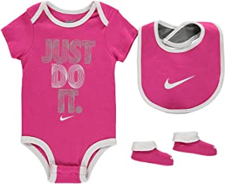 ee608656 Nike Age 6-12 Months Baby Girls 3 Piece Infant Set Romper Bib Booties Shoes